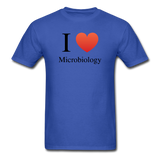 """I ♥ Microbiology"" (black) - Men's T-Shirt royal blue / S - LabRatGifts - 6"