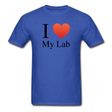 """I ♥ My Lab"" (black) - Men's T-Shirt royal blue / S - LabRatGifts - 6"