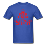 """Keep Calm and Love Your Chemist"" (red) - Men's T-Shirt royal blue / S - LabRatGifts - 6"