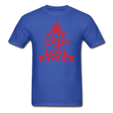 """Keep Calm and Love Physics"" (red) - Men's T-Shirt royal blue / S - LabRatGifts - 6"
