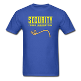 """Security Ebola Laboratory"" - Men's T-Shirt royal blue / S - LabRatGifts - 8"