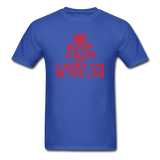 """Keep Calm and Carry On in the Lab"" (red) - Men's T-Shirt royal blue / S - LabRatGifts - 6"