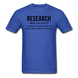 """Research"" (black) - Men's T-Shirt royal blue / S - LabRatGifts - 10"