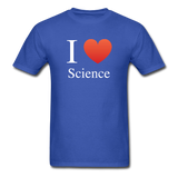 """I ♥ Science"" (white) - Men's T-Shirt royal blue / S - LabRatGifts - 7"