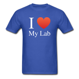 """I ♥ My Lab"" (white) - Men's T-Shirt royal blue / S - LabRatGifts - 7"