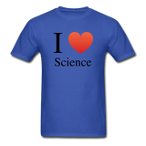 """I ♥ Science"" (black) - Men's T-Shirt royal blue / S - LabRatGifts - 6"