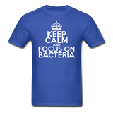 """Keep Calm and Focus On Bacteria"" (white) - Men's T-Shirt royal blue / S - LabRatGifts - 3"