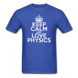 """Keep Calm and Love Physics"" (white) - Men's T-Shirt royal blue / S - LabRatGifts - 3"