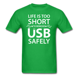 """Life is too Short"" (white) - Men's T-Shirt bright green / S - LabRatGifts - 8"