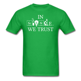"""In Science We Trust"" (white) - Men's T-Shirt bright green / S - LabRatGifts - 9"