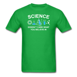 """Science Doesn't Care"" - Men's T-Shirt bright green / S - LabRatGifts - 9"