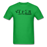 """I Ate Some Pie"" (black) - Men's T-Shirt bright green / S - LabRatGifts - 8"