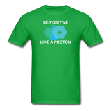 """Be Positive"" (white) - Men's T-Shirt bright green / S - LabRatGifts - 7"
