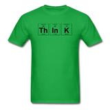"""ThInK"" (black) - Men's T-Shirt bright green / S - LabRatGifts - 8"
