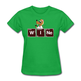 """Wine Periodic Table"" - Women's T-Shirt bright green / S - LabRatGifts - 5"