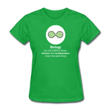 """Biology Division"" - Women's T-Shirt bright green / S - LabRatGifts - 7"