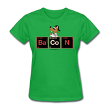"""Bacon Periodic Table"" - Women's T-Shirt bright green / S - LabRatGifts - 6"