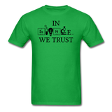 """In Science We Trust"" (black) - Men's T-Shirt bright green / S - LabRatGifts - 7"