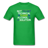 """Technically Alcohol is a Solution"" - Men's T-Shirt bright green / S - LabRatGifts - 8"