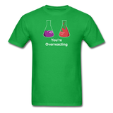 """You're Overreacting"" - Men's T-Shirt bright green / S - LabRatGifts - 6"