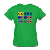 """Lady Gaga Periodic Table"" - Women's T-Shirt bright green / S - LabRatGifts - 7"