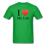 """I ♥ My Lab"" (black) - Men's T-Shirt bright green / S - LabRatGifts - 7"