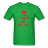 """Keep Calm and Love Physics"" (red) - Men's T-Shirt bright green / S - LabRatGifts - 7"