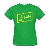 """May the Force Be With You"" - Women's T-Shirt bright green / S - LabRatGifts - 7"