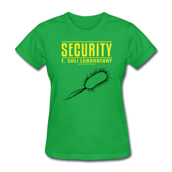 """Security E. Coli Laboratory"" - Women's T-Shirt bright green / S - LabRatGifts - 1"