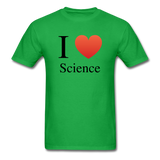"""I ♥ Science"" (black) - Men's T-Shirt bright green / S - LabRatGifts - 7"