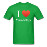 """I ♥ Microbiology"" (white) - Men's T-Shirt bright green / S - LabRatGifts - 8"