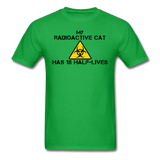 """My Radioactive Cat has 18 Half-Lives"" - Men's T-Shirt bright green / S - LabRatGifts - 8"