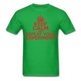 """Keep Calm and Repeat Your Experiment"" (red) - Men's T-Shirt bright green / S - LabRatGifts - 7"