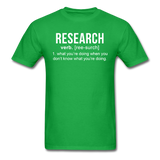 """Research"" (white) - Men's T-Shirt bright green / S - LabRatGifts - 11"