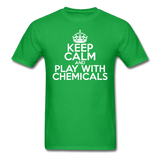"""Keep Calm and Play With Chemicals"" (white) - Men's T-Shirt bright green / S - LabRatGifts - 2"