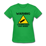 """Warning Compressed Gas Inside"" - Women's T-Shirt bright green / S - LabRatGifts - 7"