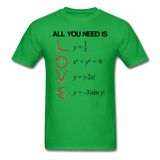 """All You Need is Love"" - Men's T-Shirt bright green / S - LabRatGifts - 9"