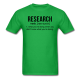 """Research"" (black) - Men's T-Shirt bright green / S - LabRatGifts - 7"