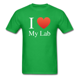 """I ♥ My Lab"" (white) - Men's T-Shirt bright green / S - LabRatGifts - 8"