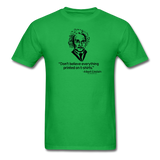 """Albert Einstein: T-Shirts Quote"" - Men's T-Shirt bright green / S - LabRatGifts - 7"