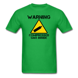 """Warning Compressed Gas Inside"" - Men's T-Shirt bright green / S - LabRatGifts - 9"