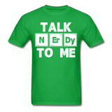 """Talk NErDy To Me"" (white) - Men's T-Shirt bright green / S - LabRatGifts - 10"
