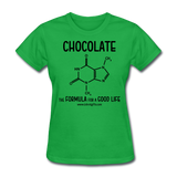 """Chocolate"" - Women's T-Shirt bright green / S - LabRatGifts - 8"