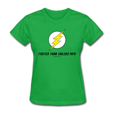 """Faster than 186,282 MPS"" - Women's T-Shirt bright green / S - LabRatGifts - 7"