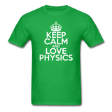 """Keep Calm and Love Physics"" (white) - Men's T-Shirt bright green / S - LabRatGifts - 2"