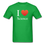 """I ♥ Science"" (white) - Men's T-Shirt bright green / S - LabRatGifts - 8"