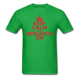 """Keep Calm and Research On"" (red) - Men's T-Shirt bright green / S - LabRatGifts - 7"
