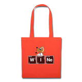 """WINe Periodic Table"" - Tote Bag orange / One size - LabRatGifts - 6"