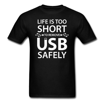 """Life is too Short"" (white) - Men's T-Shirt black / S - LabRatGifts - 1"
