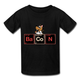 """Bacon Periodic Table"" - Kids T-Shirt black / XS - LabRatGifts - 7"